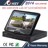 Monitor All-in-One de 4 canais 10 polegadas LCD DVR
