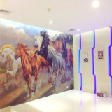 TV Interior Wall Tile Background Wall Decoration of Nano Glass, Running Horses
