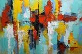 Art abstrait de mur de toile de peinture à l'huile