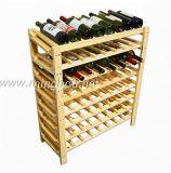 64本のびんの商業木のワイン・ボトルのホールダーのビール瓶のホールダーラック棚付け