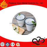 Taza de café promocional de la taza de la leche del vaso del esmalte en China