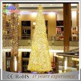 Árvore de Natal ao ar livre artificial do carrinho de Acrylice da decoração do diodo emissor de luz grande para o armazém