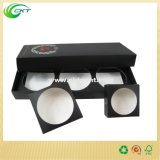 Rectángulo de regalo de empaquetado cosmético con el cartón de plegamiento claro de la ventana, (CKT-CB-325)