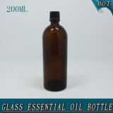 200ml Slim Amber Empty Essential Oil Knell Bottle Crown Cape