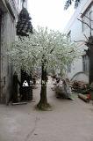 Arbre artificiel rose/blanc décoratif extérieur ou d'intérieur de fleur de cerise