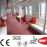 빨간 안전 PVC 지하철 중요한 2mm Mj1002를 위한 상업적인 비닐 마루