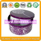 Коробка олова металла упаковки еды круглая