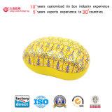 Caixa amarela do Tinplate da caixa de embalagem do presente da cor (B001-V22)