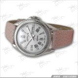 Cuero Ltrap, reloj de encargo del acero inoxidable de la señora manera