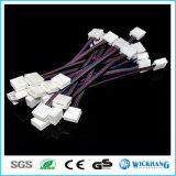 10mm 4 SMD LED 5050 RGB防水LEDの滑走路端燈のためのケーブルが付いているPin 2のコネクター