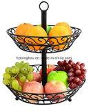 Cremalheira de indicador do metal da cesta da fruta e verdura para a HOME
