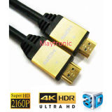 Cable de alta velocidad del Varón-Varón 2.0/4k HDMI con Ethernet