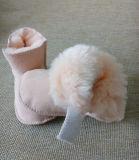 Zapatos merinos del bebé de Prewalker de la zalea de Australia del color rosado