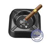 Portacenere poco costoso di fumo su ordinazione nero del sigaro degli accessori con la fabbrica su ordinazione di marchio