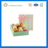 Caixa de empacotamento do presente luxuoso de Macaron (caixa de embalagem rígida do macaron do cartão com indicador)