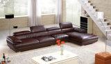 Sofá de couro clássico da sala de visitas Home moderna da mobília (UL-NS073)