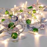 Licht van het Koord van de LEIDENE het Kleurrijke die Fee van de Steen voor Nieuwe Heet van de Decoratie 2017 van de Partij van het Huwelijk van Kerstmis van de Boom van de Tuin wordt geplaatst verkoopt