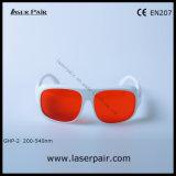 フレーム52が付いている266nm、355nm、405nm、532nmの紫外および緑レーザーの防護眼鏡または目の保護ガラス(GHP-2 200-540nm)