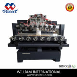 De vlakke Roterende MultiCNC van Hoofden Machine van de Houtbewerking van de Router (vct-2515 Fr-8H)