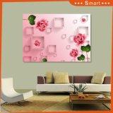 Горячие сбывания самый новый розовый Rose напечатали на панели стены для домашней картины украшения