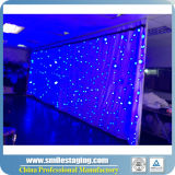 セリウムが付いている多彩な3*8m RGBの三色の星のカーテン