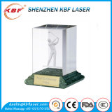 Гравировальный станок лазера DIY 2D 3D 3watts зеленый для стеклянная кристаллический внутренней гравирует дорогий