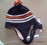 冬のアクリルのカスタムニットハンドメイドPOM POMの帽子の帽子