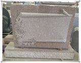 Granito natural para o memorial americano com a flor que cinzela a escultura à mão