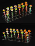 Bolo de acrílico de 20 buracos Pop Lollipop Clear Display Stand Display do servidor Display / Stand / Holder / Base / Prateleira
