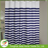 Shower Curtain Fabric on-line listrado personalizado cortina de chuveiro