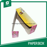 色刷を用いる上塗を施してあるクラフト紙の折るディスプレイ・ケース
