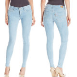 Kundenspezifische Frauen-Denim Legging Form-dünne Jean-Hosen