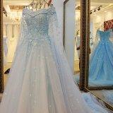 2017 с платья венчания Tulle плеча мягкого Bridal с вуалью