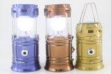 Solar zoom lámpara que acampa USB