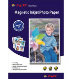 Papel magnético brillante de la foto de la inyección de tinta A4