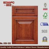 Porta de gabinete de mogno moderna da cozinha 2017 (GSP5-027)