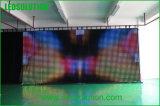 Visualización de LED flexible de interior del paño P75 para la etapa