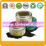 Contenitore del tè del metallo con il commestibile, contenitore di stagno del tè