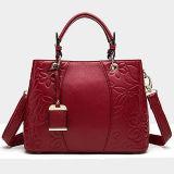 Fabricante elegante do OEM dos sacos de ombro do Tote da senhora Bolsa Couro Embossing Flor da forma em China Emg5123