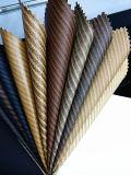 Cuero clásico de la PU del modelo de la viruta para el zapato (HTS044)