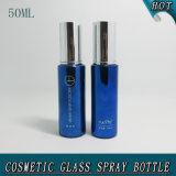 50ml Cylinder Blue Cosmetic Glass Pump Spray Bottle Price