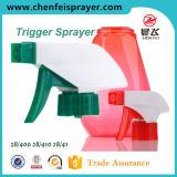 Pulverizador plástico do disparador da pressão do punho dos PP para a limpeza