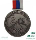 Médaille de bronze faite sur commande bon marché d'argent d'or avec la bande (W-65)