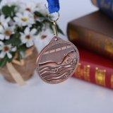 Médailles personnalisées en alliage de zinc de sport de récompense de souvenir avec la bande