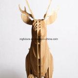 Tabella decorativa di legno della mensola del lato degli alci di DIY