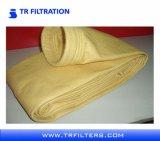 Sacos de filtro não tecidos da poeira de feltro P84 da agulha