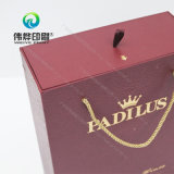 Уникально причудливый бумажная коробка питья подарка вина с горячий штемпелевать