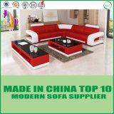 Sofà domestico di lusso dell'angolo di figura della mobilia U