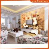 Картина маслом цветков Triptych современного искусства холстины домашних товаров цветастая