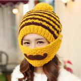 Шлем усика бороды маски способа Handmade связанный рукой Crocheted